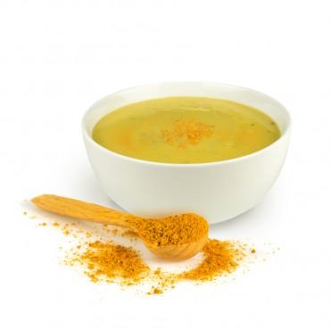 Mit wenig Aufwand eine pikante Currysuppe zaubern. (Abbildung ist ein Rezeptvorschlag und zeigt nicht den Lieferumfang.)